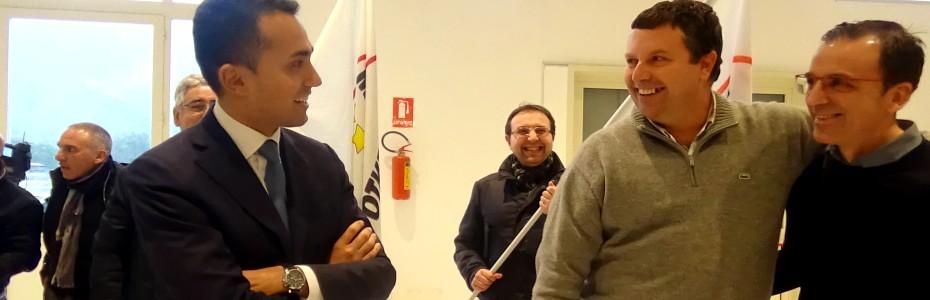 Di Maio a Carini in sostegno di Ambrogio Conigliaro