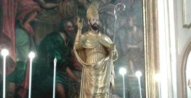 La statua di Sant'Erasmo torna nella chiesa Madre di Capaci