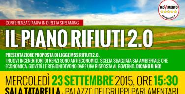 """Il M5S presenta """"Rifiuti 2.0"""", l'alternativa agli inceneritori di Renzi"""