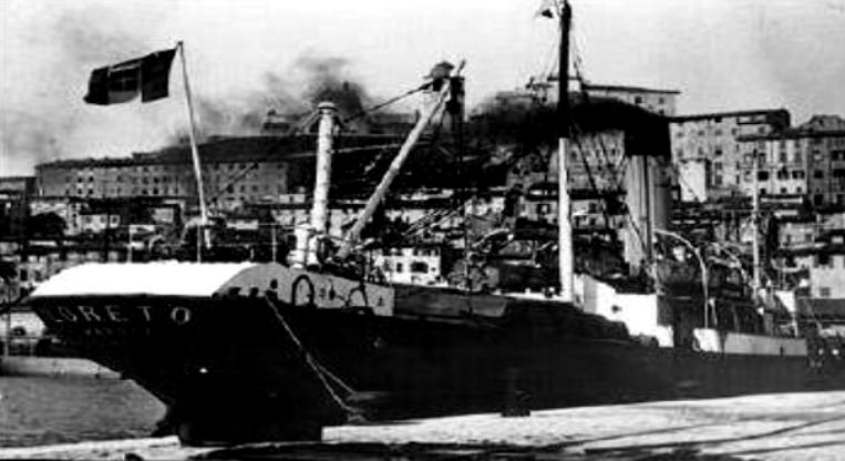 L'affondamento del piroscafo Loreto nei pressi di Isola delle Femmine