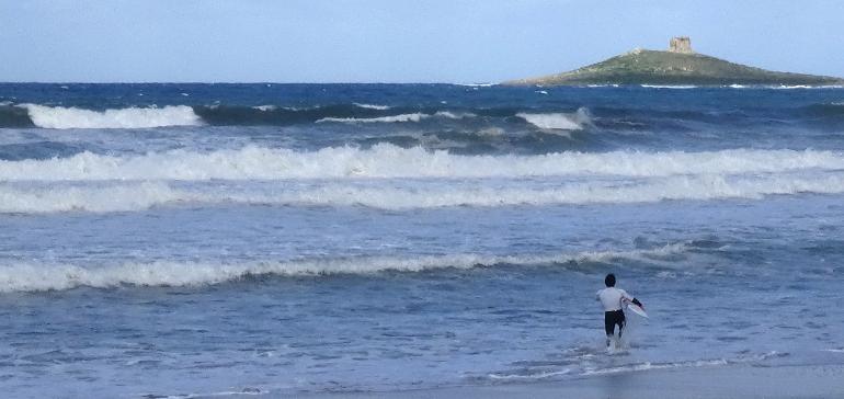 Isola Surf Open 2015: gara di surf nel mare di Isola delle Femmine