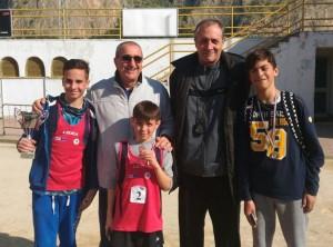 Scala A. – Patti A. – Croce F. con il Prof. Raffermati e il prof. Viviano Antonino