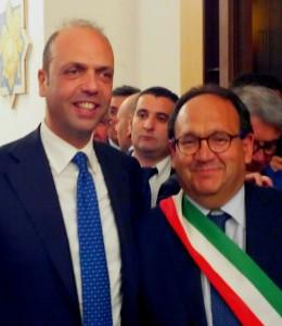Il ministro Alfano e Stefano Bologna