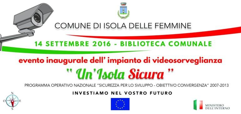 Isola delle Femmine, sindaci e prefetti all'inaugurazione del nuovo sistema di videosorveglianza