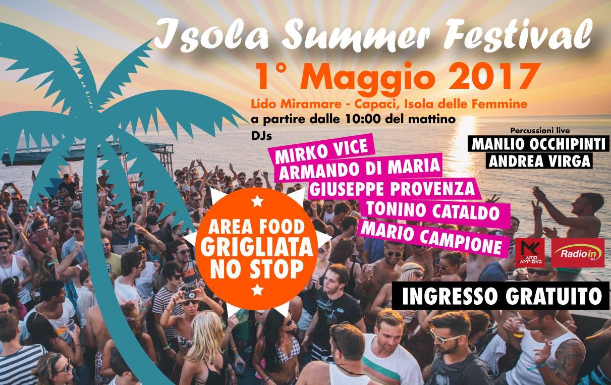 Isola Summer Festival, primo maggio in spiaggia ad Isola delle Femmine