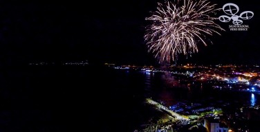 I giochi d'artificio di Isola delle Femmine visti dal drone (VIDEO)