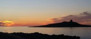 isolotto tramonto