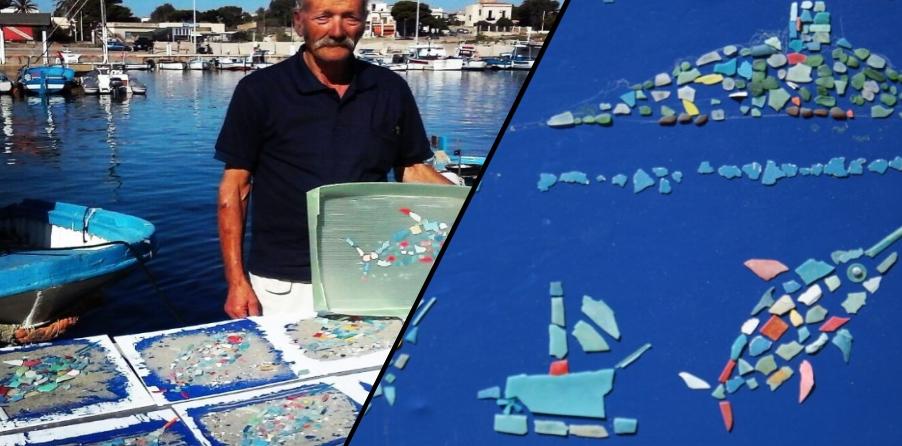 Pesci di plastica nel mercato ittico di Isola delle Femmine
