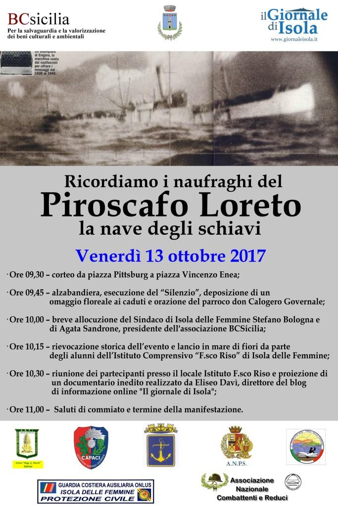 locandina piroscafo loreto