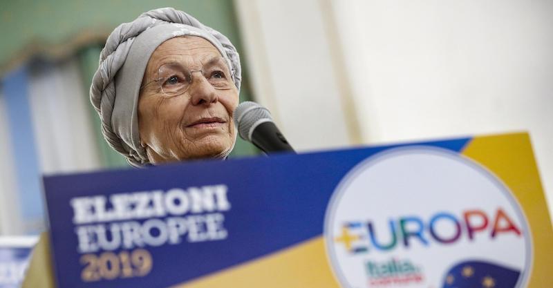 Emma Bonino durante la presentazione delle cinque candidate socialiste nella lista di +Europa, che si presenta alle europee con Italia in Comune e Partito democratico europeo (Pde), Roma, 04 maggio 2019. ANSA/GIUSEPPE LAMI