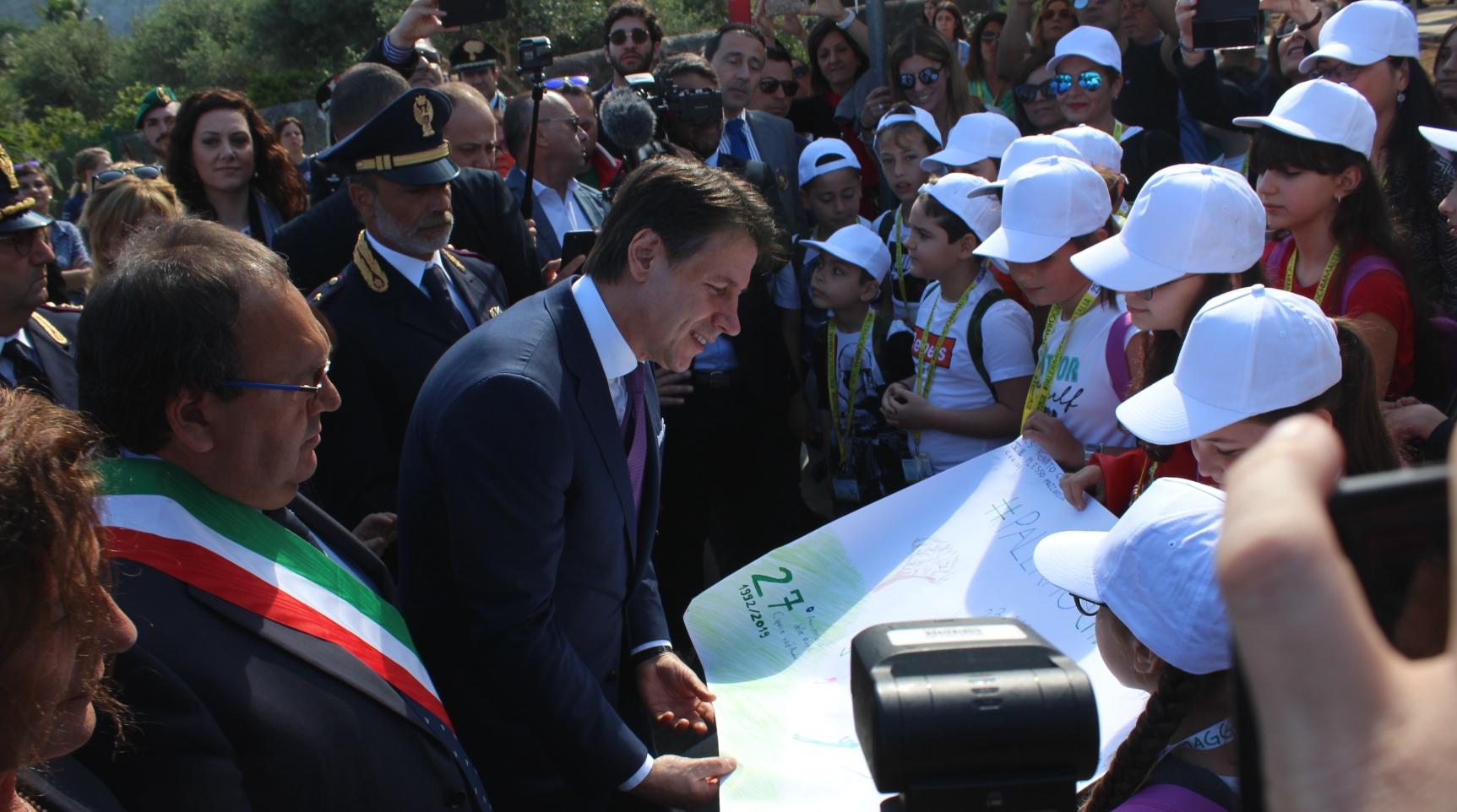 23 maggio, commemorazione nel giardino della memoria con il premier Conte e il ministro Salvini (VIDEO)