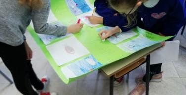 La scatola generosa dei bambini della 5A e B della scuola di Isola delle Femmine